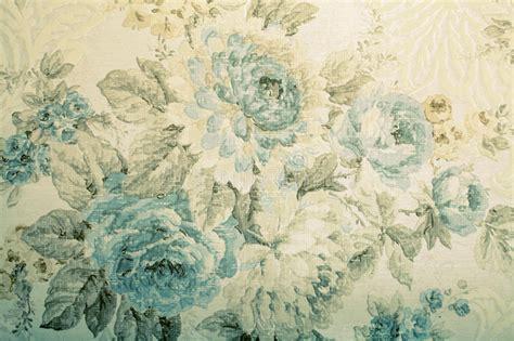 vintage wallpaper  blue floral victorian pattern stock