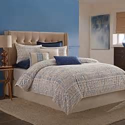 wamsutta 174 tapestry comforter set in blue www bedbathandbeyond ca