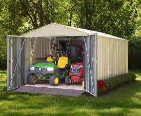 arrow commander galvanized steel shed 10 w x 10 l with 8