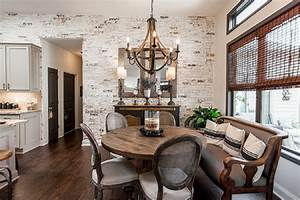 Magnificent, White, Dining, Room, Ideas, Look, Gorgeous, With, The, Uniqueness, Of, Brick, Walls
