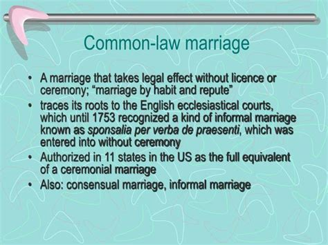 common marriage ppt marriage definition requirements for a valid marriage bars to marriage void and voidable