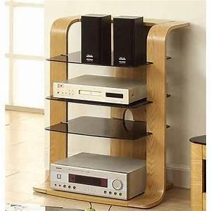 Hi Fi Rack : curved hi fi stand in oak veneer with glass shelves 25671 ~ Frokenaadalensverden.com Haus und Dekorationen