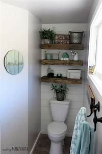 Ombre Painted Wood Sign For Farmhouse Master Bathroom