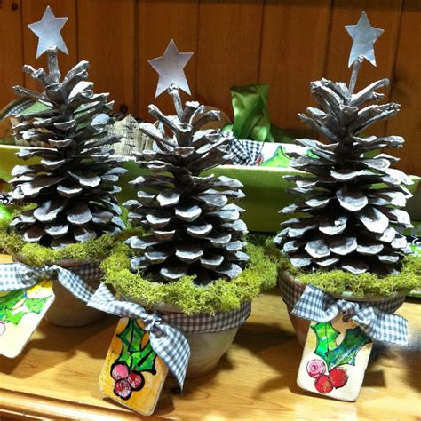 Lucy's Lampshade Pine Cone Topiary Trees