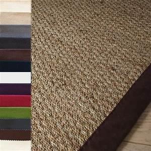 Carrelage design tapis rond jonc de mer moderne design for Tapis jonc de mer avec canapé 2m40
