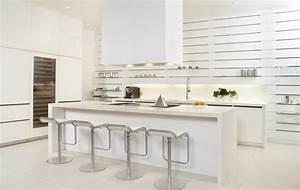 Modele cuisine blanche en 50 idees inspirantes a vous for Idee deco cuisine avec cuisine contemporaine blanche et grise