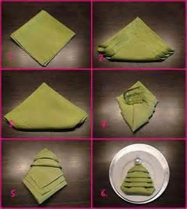 christmas tree shaped napkin folding party napkin folding rings pinterest
