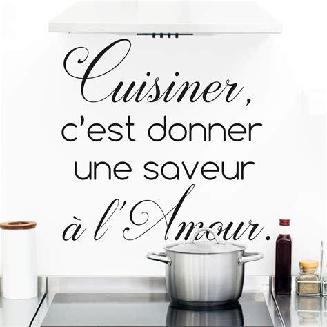 stickers pour la cuisine sticker citation cuisine cuisiner c 39 est donner une saveur