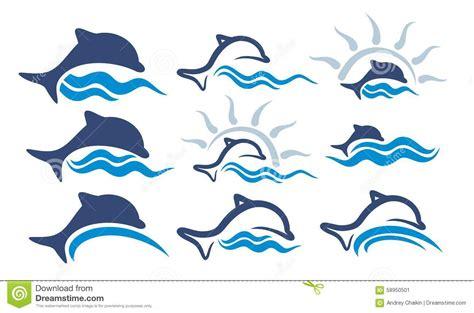 Logos dolphin. stock vector. Illustration of vector, river ...
