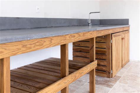 meuble plan de travail cuisine cuisine d 39 été meuble bois massif et plan de travail