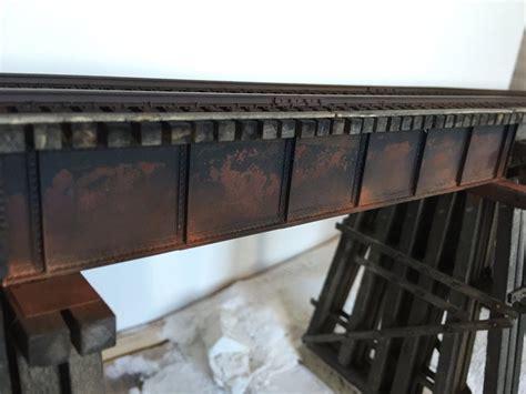 scratchbuilding  deck plate girder bridge shortline
