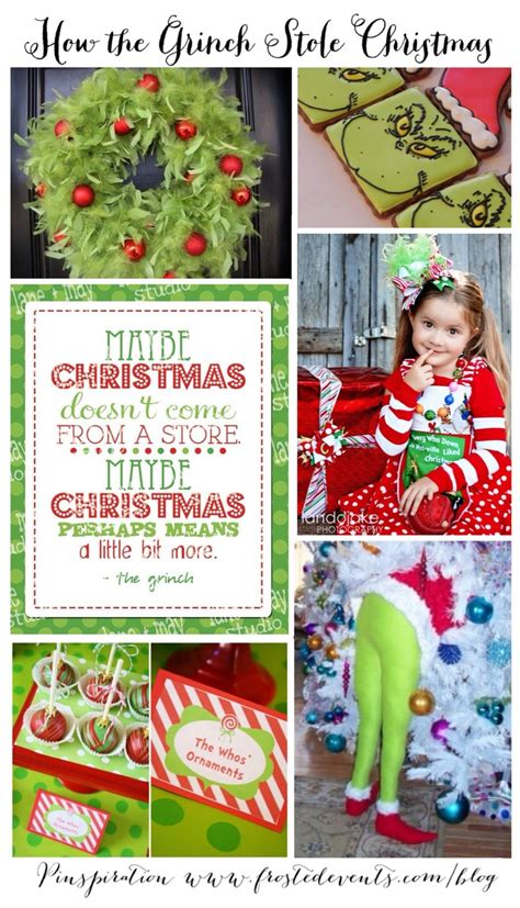 christmas ideas how the grinch stole christmas inspiration