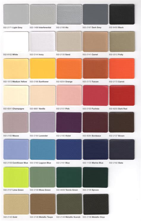 Colors & Specifications  Accent Awnings, Inc