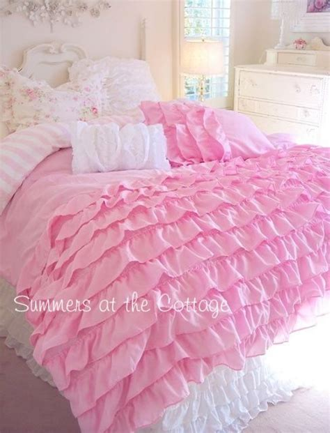 shabby chic bedding blanket perfectly pink dreamy ruffles shabby cottage chic comforter quilt set shabby cottage cottage