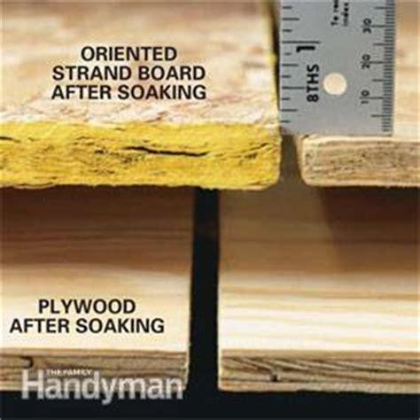 oriented strand board  plywood  family handyman