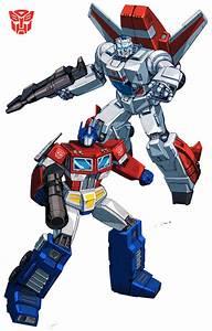 Jetfire and Optimus Prime Transformers. PRINT