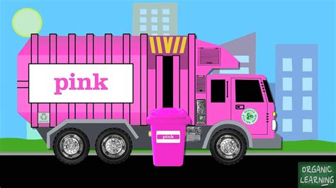 garbage trucks teaching colors learning basic colours