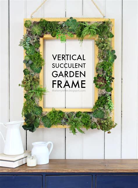 that s my letter vertical succulent garden frame