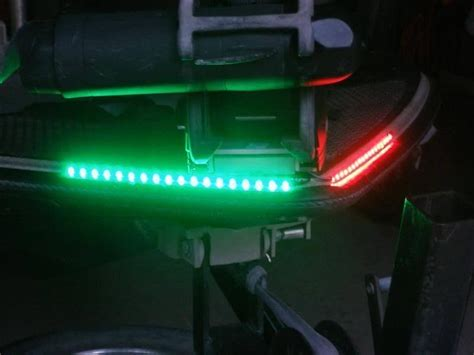 pontoon ski wave boat led bow lighting green