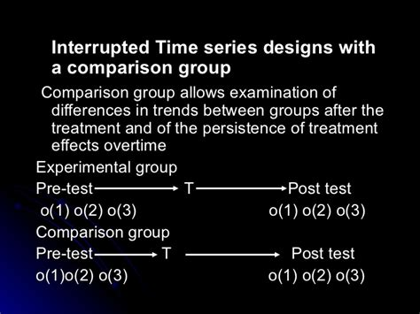 interrupted time series design interrupted time series design evaluation and impact