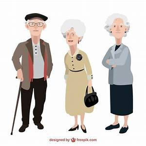 Old people illustration Vector | Free Download