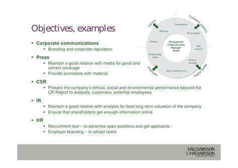Corporate Communication Resume Objectives by Roi For Corporate Communications B 2010 09 30