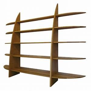 Etagere Bois Design : grande biblioth que design contemporaine bois massif ~ Teatrodelosmanantiales.com Idées de Décoration