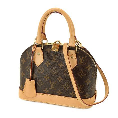 auth louis vuitton monogram alma bb shoulder handbag