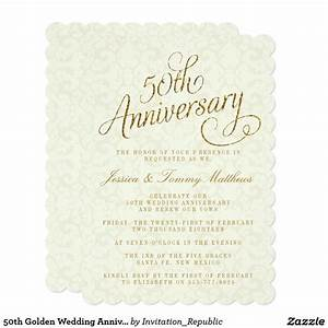 28 best 50th anniversary invitations images on pinterest With golden wedding anniversary invitations