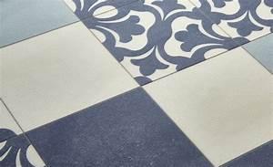 Sol Vinyle Carreau Ciment : sol vinyle emotion carreau ciment bleu et beige rouleau 2 m saint maclou salle de bain ~ Dode.kayakingforconservation.com Idées de Décoration