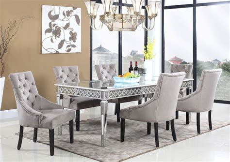 mirrored dining table set sophie mirrored dining table