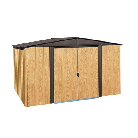 arrow woodlake 10 ft x 8 ft steel storage shed with