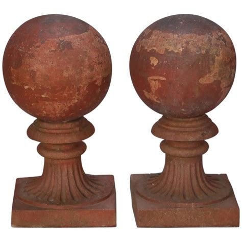 Large L Finials by Large Terra Cotta Finial On Stand For Sale At 1stdibs