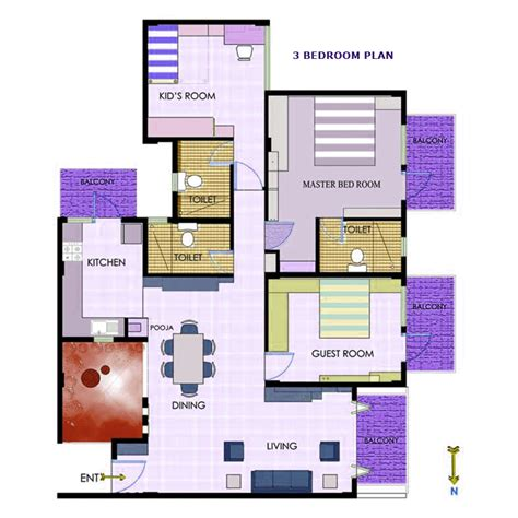2 master bedroom house plans floor plans gr lavender sgr buildtech pvt ltd