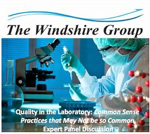 Quality in the Laboratory: Common Sense Practices Expert ...