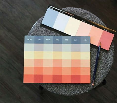 monthly planner notepad  types memo pad