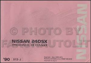 1990 Nissan 240sx Repair Shop Manual Original