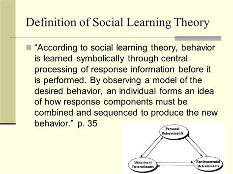 Modified Behavior Definition by Social Learning Theory Ppt