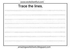 tracing pages images preschool preschool