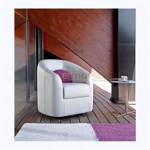 Fauteuil cabriolet cuir fixe ou pivotant grand confort coco for Fauteuil cabriolet pivotant