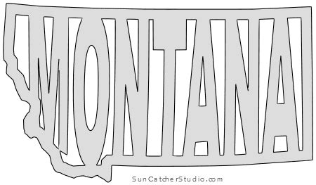 montana map outline printable state shape stencil
