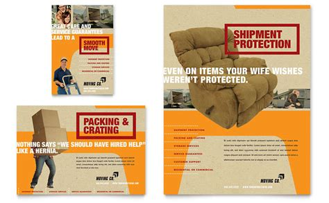 movers moving company flyer ad template word publisher