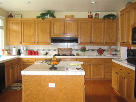 what color countertops go with oak cabinets popular kitchen themes wood patterns view