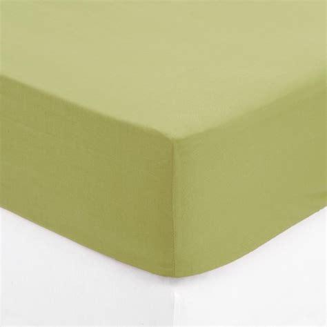 drap housse 140x190cm vert anis