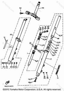 Yamaha Motorcycle 1987 Oem Parts Diagram For Front Fork