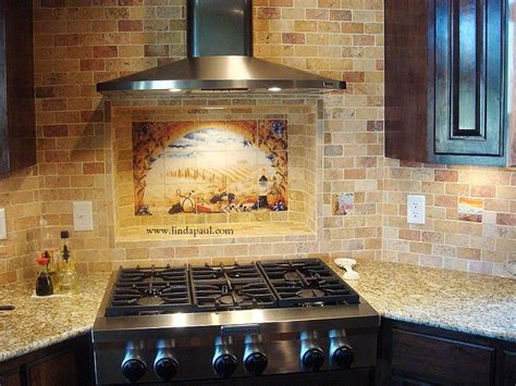 kitchen backsplash tile photos italian tile murals tuscany backsplash tiles