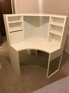 Ikea Micke Corner Workstation Table Desk  Immaculate