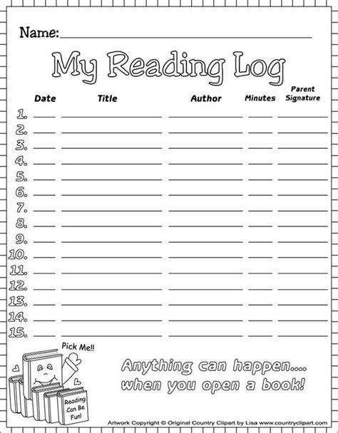 reading log templates  premium templates