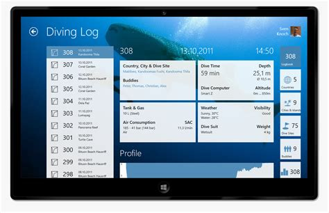 Dive App by Introducing Diving Log Touch 171 Diving Log