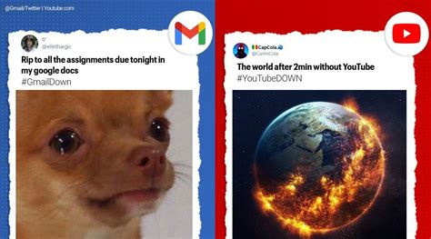 YouTube down Gmail, YouTube down briefly as Google... Shotoe